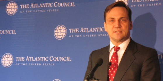 Polish Foreign Minister Radoslaw Sikorski Talks to Council
