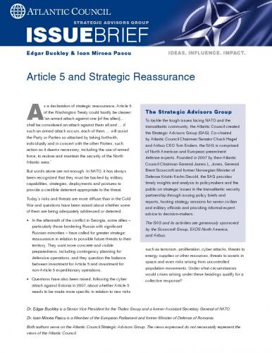 Article 5 and Strategic Reassurance