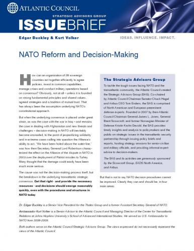 NATO Reform and Decision-Making