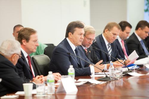 President Yanukovych Addresses Atlantic Council