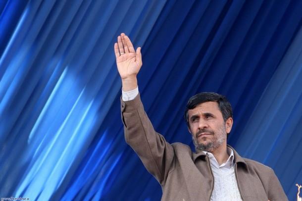 Ahmadinejad gesturing