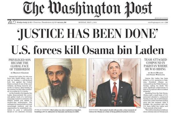 Image result for osama bin laden killed headlines