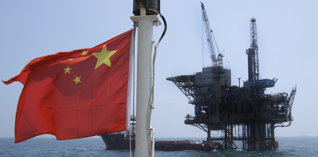 Chinese oil rig in South China Sea