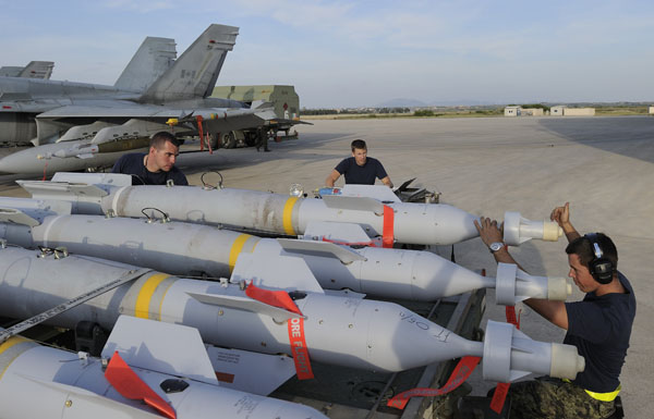NATO allies may lack sufficient precision bombs for Syria contingencies