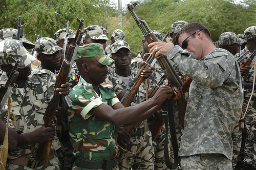 Mali soldiers training with US SOF