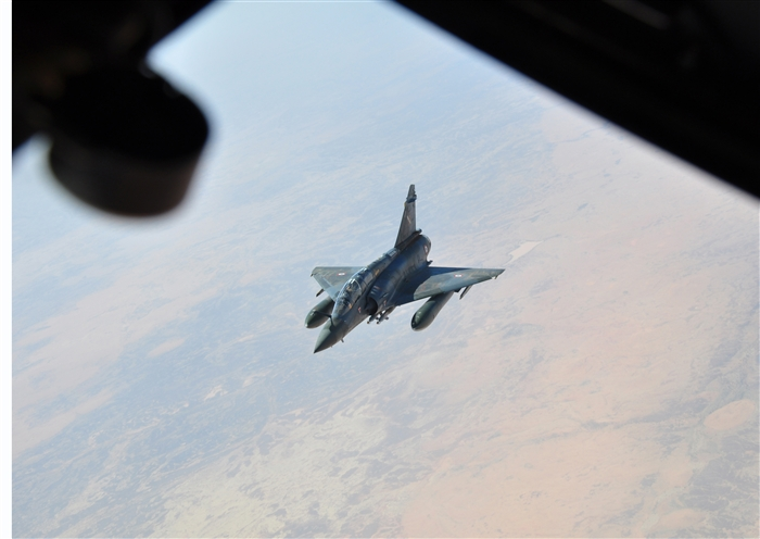 French Mirage over north africa 2