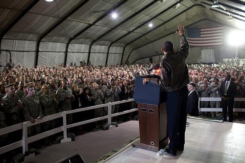Flickr: Barack Obama visits troops in Afghanistan