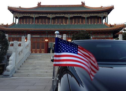 Dept of State Flickr: US flag flutters in Beijing