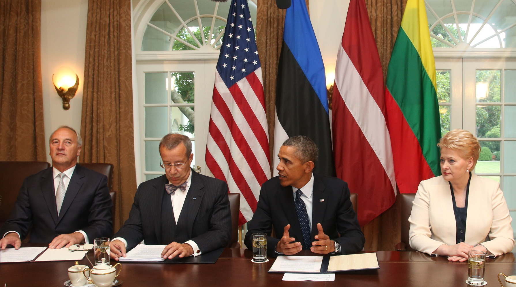 Obama meeting with Baltic leaders at White House