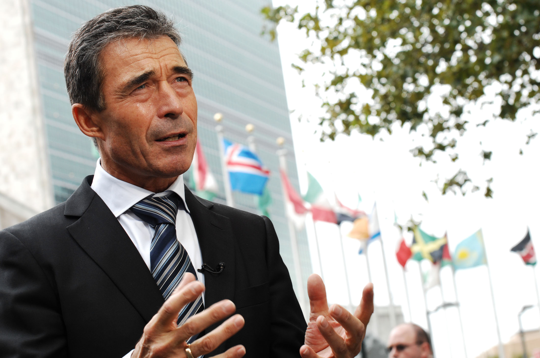 Secretary General Anders Fogh Rasmussen at the UN, Sept. 19, 2011