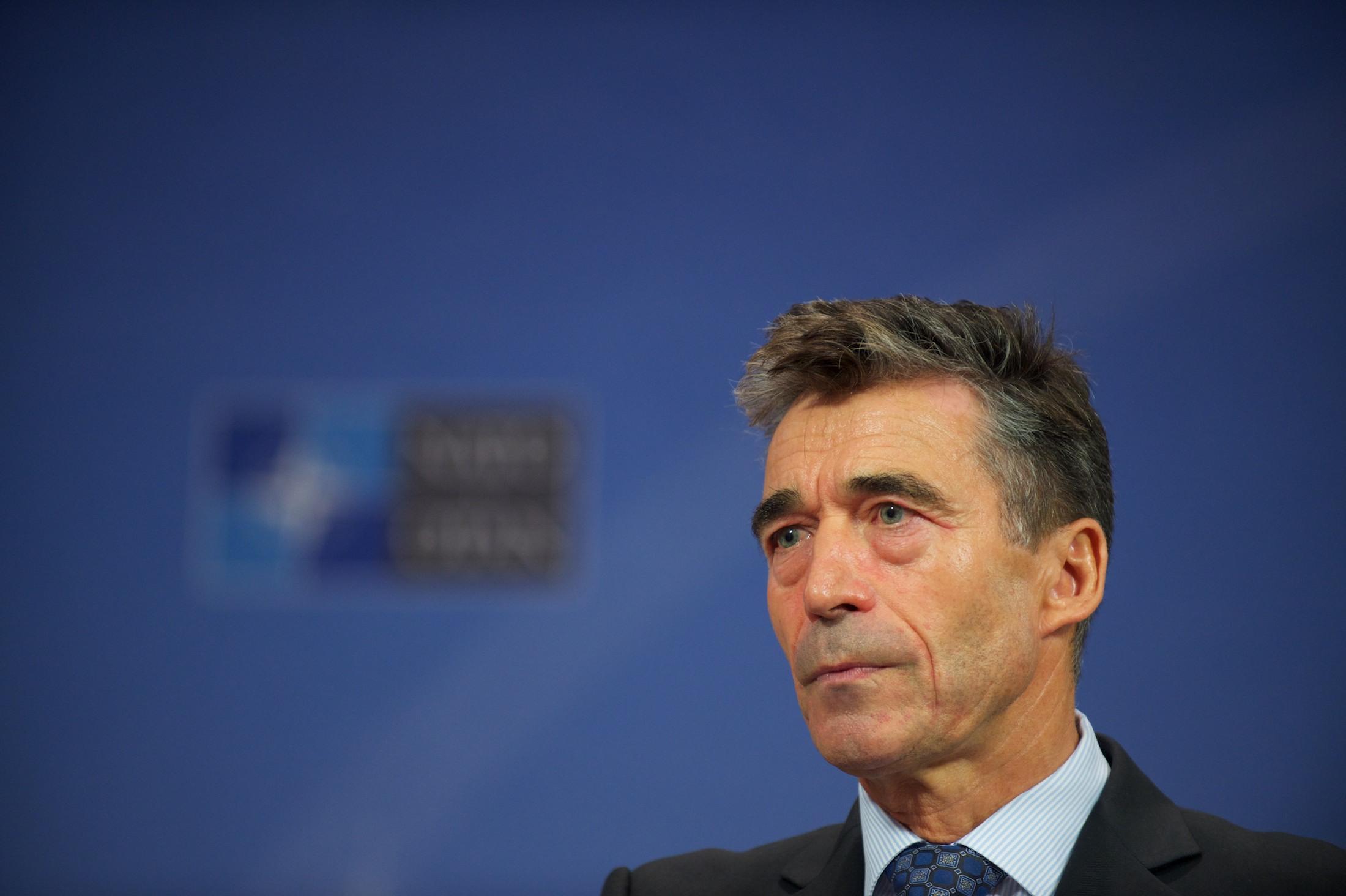NATO Secretary General Anders Fogh Rasmussen, October 10, 2013
