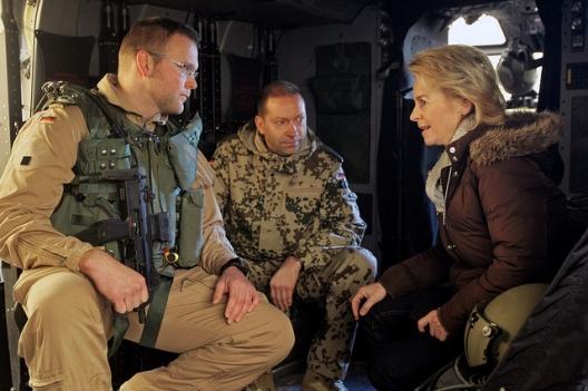 German Defense Minister Ursula von der Leyen in Afghanistan