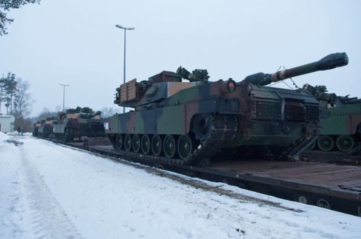 29 M1A2 SEP Abrams tanks arrived at the Grafenwoehr training facility