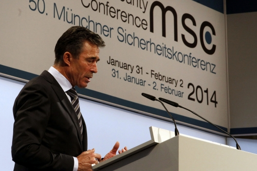 NATO Secretary General Anders Fogh Rasmussen at the Munich Security Conference, February 1, 2014