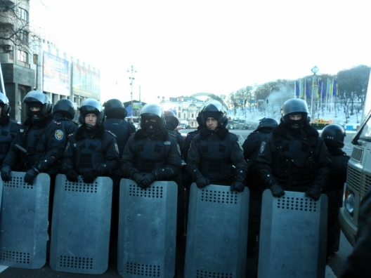 Yanukovich security forces in Kiev, Dec. 14, 2013