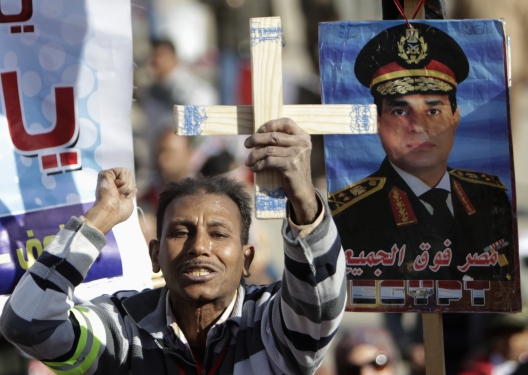 Christians, Mostly, Embracing Sisi