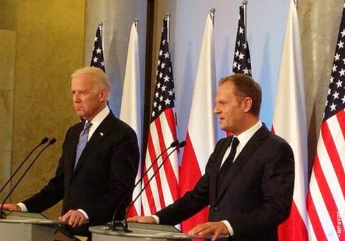 Vice President Joe Biden and Polish Prime Minister Donald Tusk, March 18, 2014