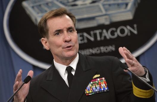 Pentagon Press Secretary Rear Adm. John Kirby, March 27, 2014