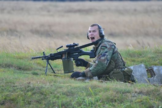 Latvian soldier participating in Steadfast Jazz exercise
