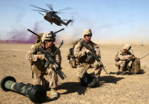 US Marines during a mission in Helmand, April 28, 2014