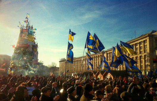 Kyiv's Maidan movement presses its demands last winter for rule of law, an end to official corruption, and closer relations with the European Union. (CC License)