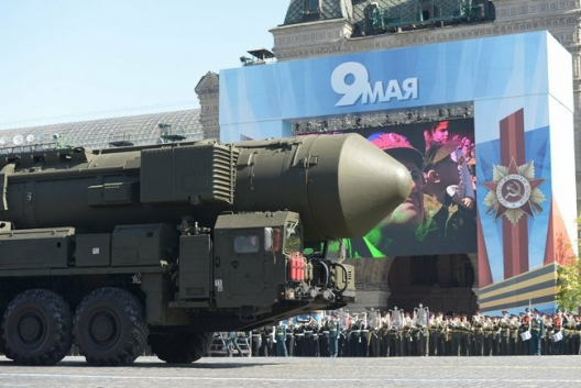 Russian missile in Moscow Victory Day Parade