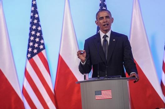 President Barack Obama in Warsaw, June 3, 2014