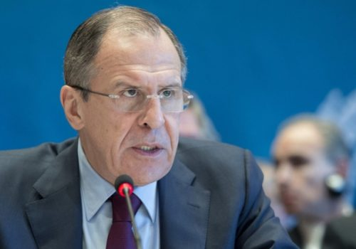 Russian Foreign Minister Sergei Lavrov, Jan. 22, 2014