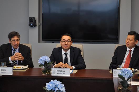 Conversation with Kazakh Deputy Foreign Minister Yerzhan Ashikbayev
