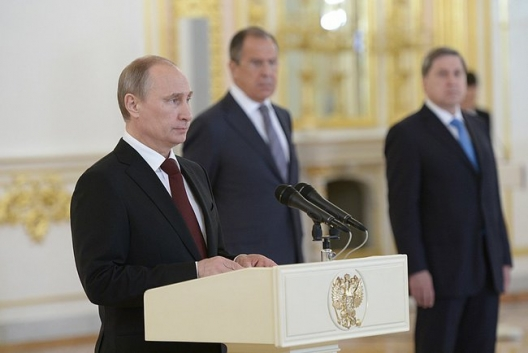 Putin Vows to 'Actively Defend' Russians Living Abroad