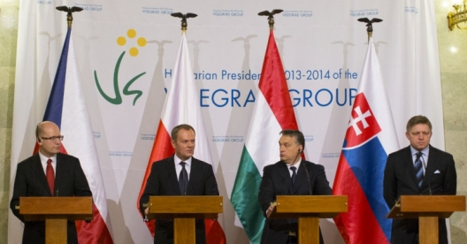 The Prime Ministers of Hungary, Slovakia, Poland, and the Czech Republic, Jan. 29, 2014