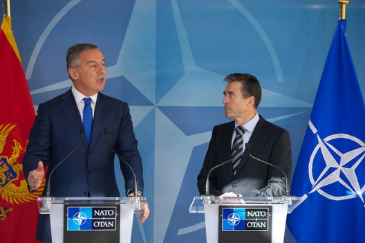 Prime Minister of Montenegro, Milo Djukanovic and Secretary General Anders Fogh Rasmussen, March 25, 2014