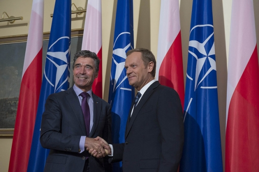 Secretary General Anders Fogh Rasmussen and Polish Prime Minister Donald Tusk, May 8, 2014