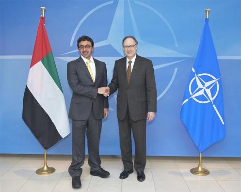 UAE Foreign Minister Sheikh Abdullah bin Zayed Al Nahyan and Deputy Secretary General Alexander Vershbow, April 14, 2013