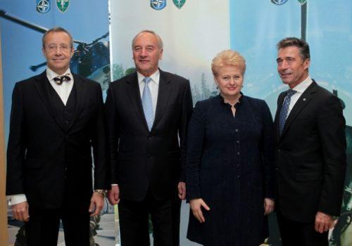 Baltic presidents with Secretary General Anders Fogh Rasmussen, Nov. 6, 2013