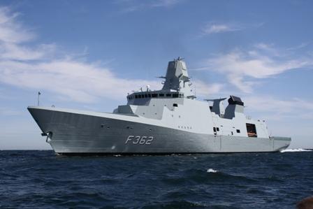 Danish frigate HDMS Peter Willemoes, June 28, 2011