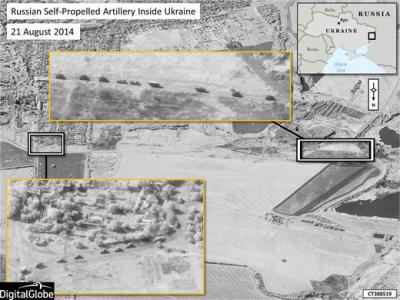 NATO Releases Satellite Images of Russian Combat Troops Inside Ukraine