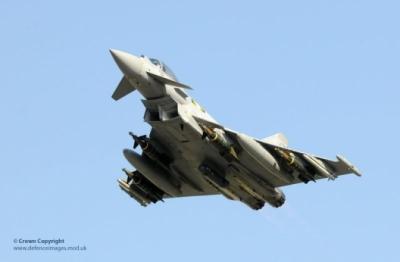 RAF Typhoon lifts off for Libya, May 25, 2011