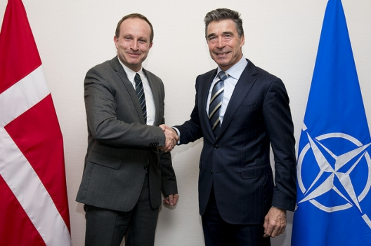 Danish Foreign Minister Martin Lidegaard and Secretary General Anders Fogh Rasmussen, March 18, 2014