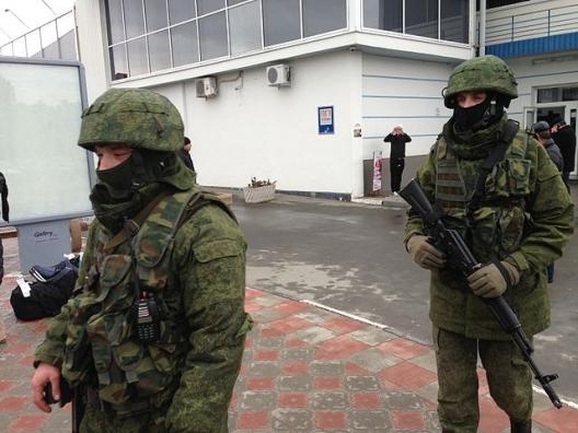 Unidentified gunmen at Simferopol International Airport, Feb. 28, 2014