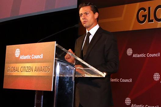 Mexican President Peña Nieto Receives Atlantic Council Global Citizen Award