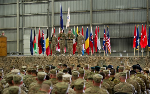 Official handover ceremony at Kandahar Airfield