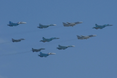 Russian jets over Victory Day Parade, May 9, 2010