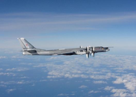 Russian Tu-95 Bear bomber intercepted by RAF Typhoons, October 29, 2014