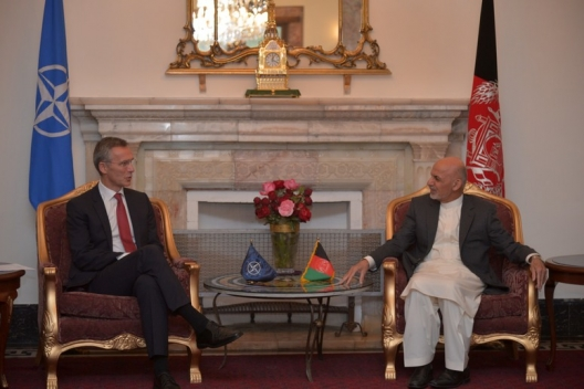 Secretary General Jens Stoltenberg and Afghan President Ashraf Ghani, Nov. 6, 2014
