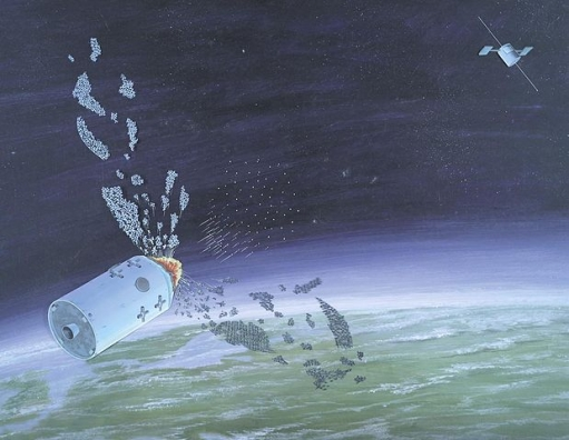 1986 DIA artwork of Soviet anti-satellite weapon