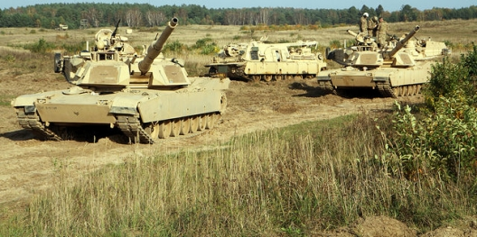 1st Cavalry Division tanks in Poland, Oct. 27, 2014