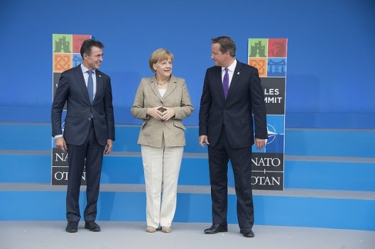 German Chancellor Angela Merkel and NATO leaders at the Wales Summit, Sept. 4, 2014