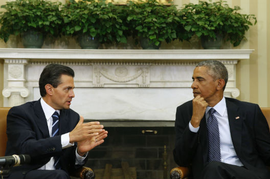 Mexico's President Visits Washington; He and US Hope He Can Regain Initiative at Home