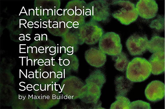 Antimicrobial resistance as an emerging threat to national security
